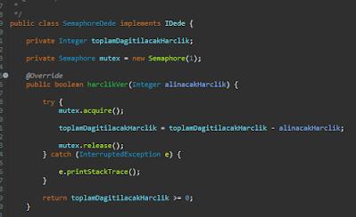 Java'da Semaphore Kullanımı Örneği