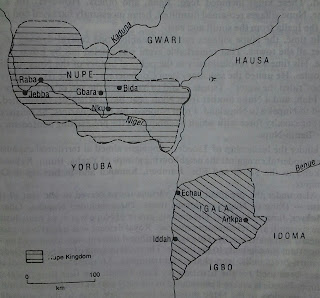 Map of the Nupe Kingdom