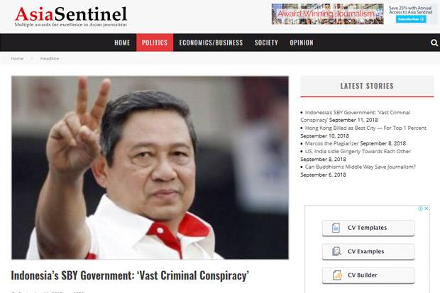 Demokrat: Artikel <i>Asia Sentinel</i> Operasi Bawah Tanah untuk Mendiskreditkan SBY