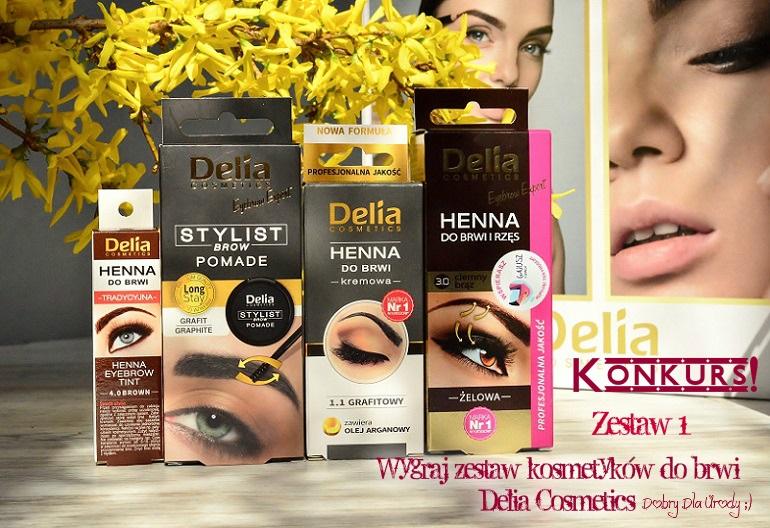 KONKURS!!! Wygraj zestaw kosmetyków do brwi Delia Cosmetics