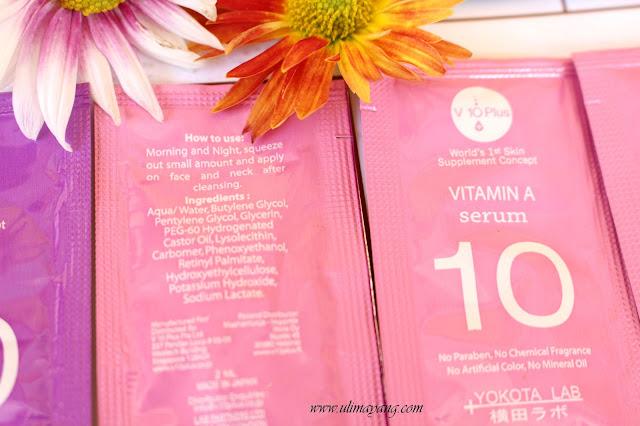 hasil dari v 10 plush vitamin a serum