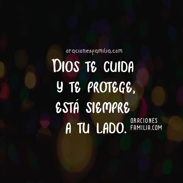 imagen de Dios te protege, te cuida siempre esta contigo dormir feliz