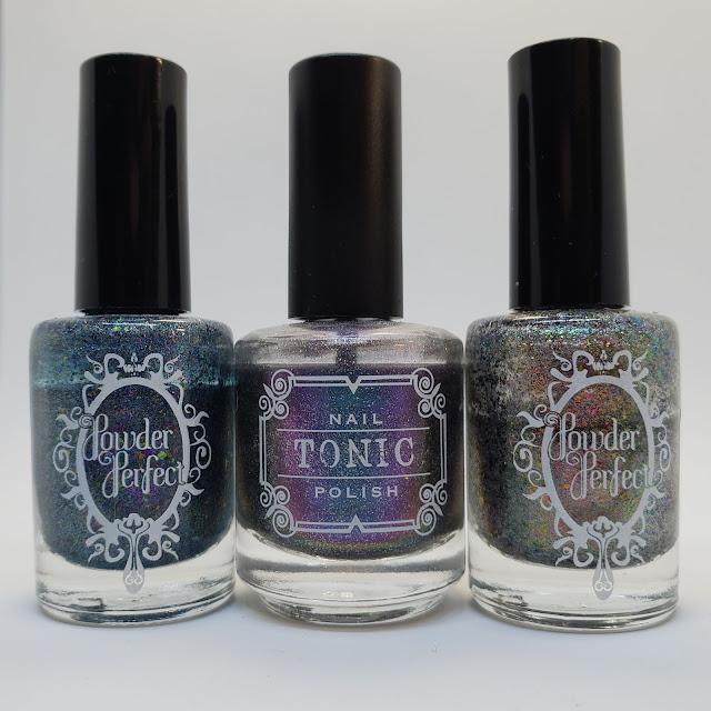 Powder perfect, tonic polish, holo, indie polish
