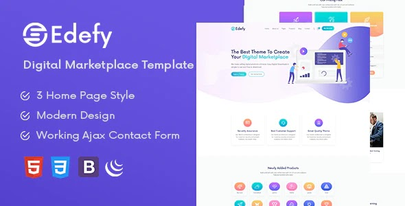 Best Digital Marketplace HTML Template
