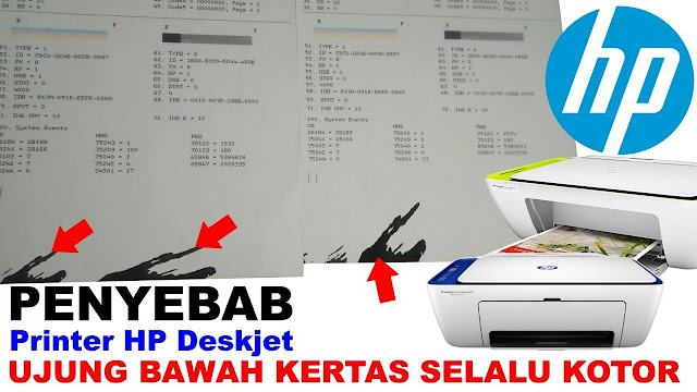 dirty paper end hp printer, hp deskjet ujung keras kotor, black lines down the page, printer hp kertas kotor, kertas kotor hp printer
