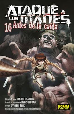 Ataque a los Titanes: Antes de la Caída vols. 15 y 16 de Ryo Suzukaze y Satoshi Shiki - Norma Editorial