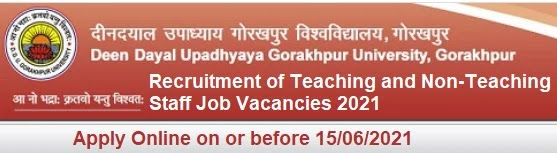 DDUGU Teaching Non-Teaching Vacancy Recruitment 2021