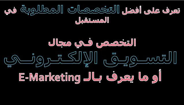 التخصص في التسويق الإلكتروني