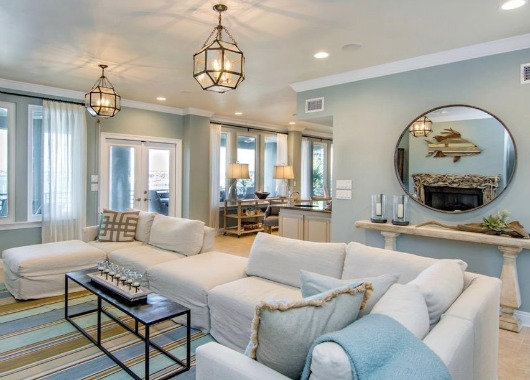 Pensacola Beach Home On Hgtvs Beach Hunters Rustic Living Dining Room Idea Coastal Decor