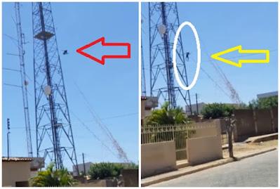 Ibipitanga-BA: Jovem comete suicídio pulando de torre de transmissão de telefonia
