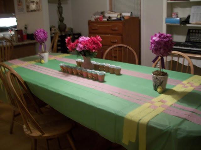 Garden Party Table Decor, Topiary, Flower Pot Favors