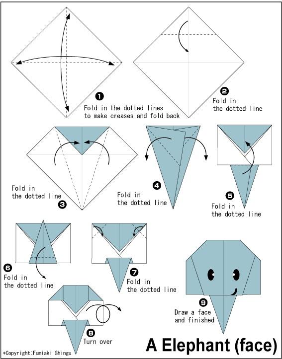 අලියෙකුගේ මුහුණ හදමු (Origami Elephant(Face)) - Your Choice Way