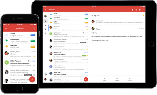 Dasboard Of New Gmail Apps For iOS