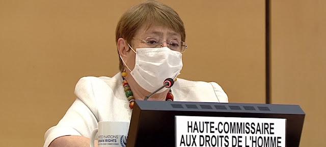 La Alta Comisionada de la ONU para los Derechos Humanos, Michelle Bachelet.ONU