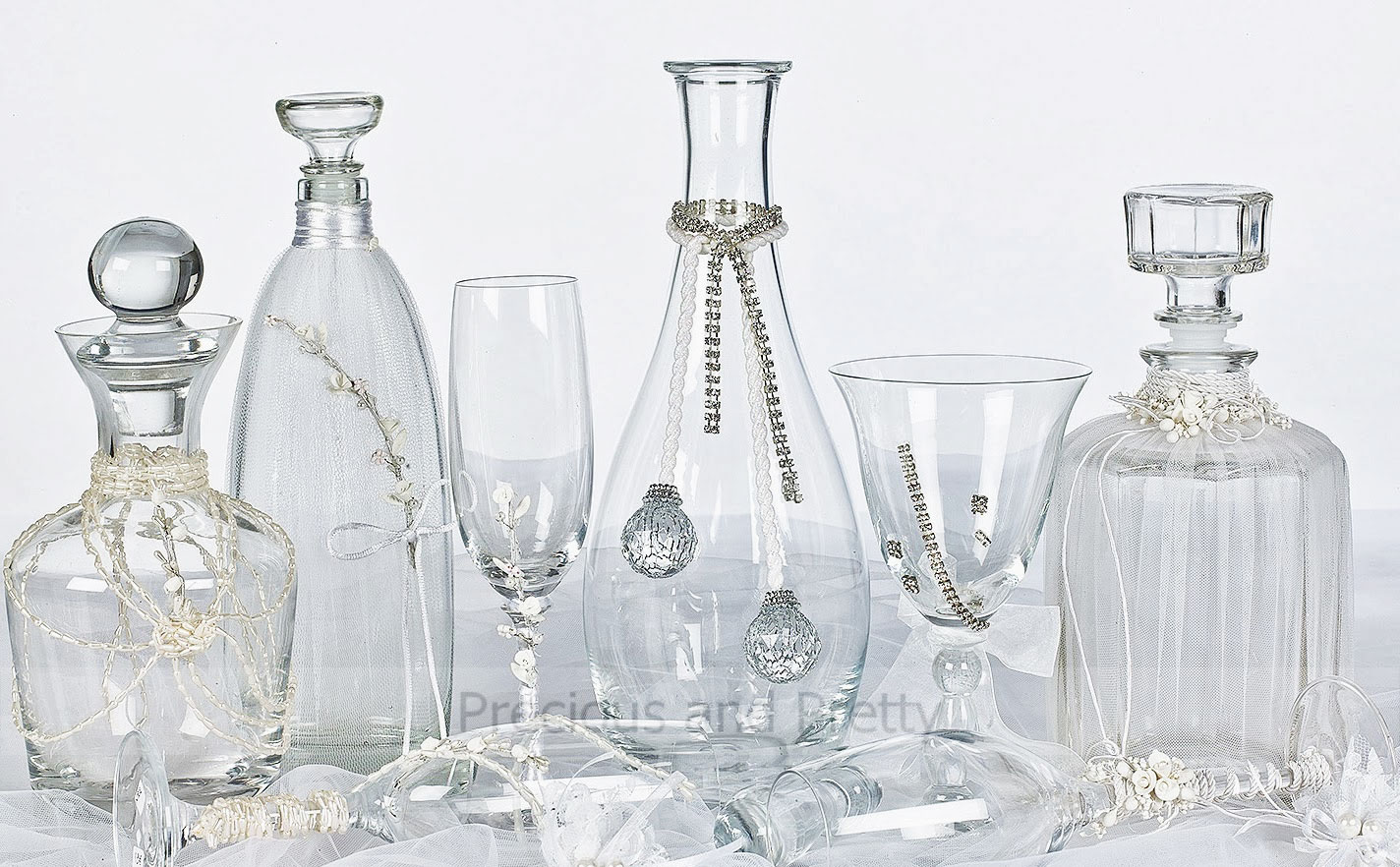 Wine decanter sets for Greek Orthodox weddings