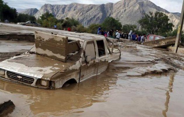 Φονικές πλημμύρες στη Χιλή με 3 νεκρούς και 19 αγνοούμενους