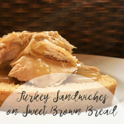 Open-Face Turkey Sandwiches on Sweet Brown Bread