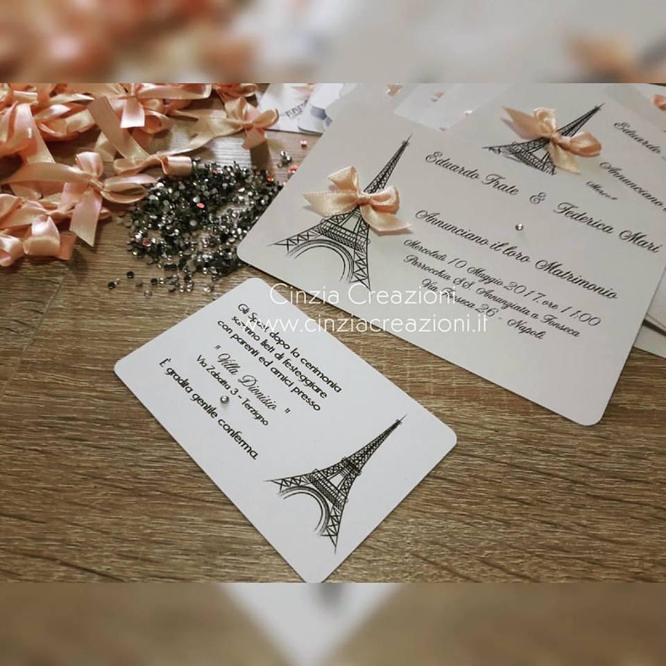 Matrimonio Tema Parigi : Cinzia creazioni articoli matrimonio partecipazione tema