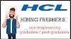 HCL HIRING FRESHER'S