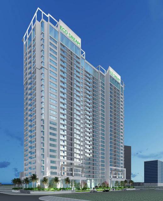 Phối cảnh 2 toà căn hộ dự án Eco dream city