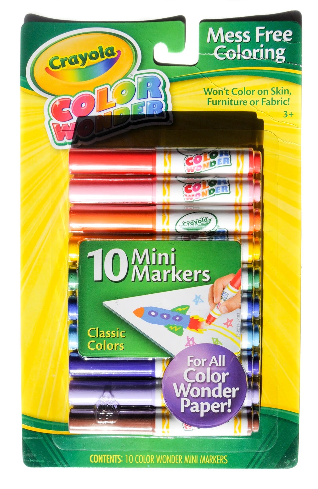 10 Count Crayola Color Wonder Markers: What\'s Inside the Box ...