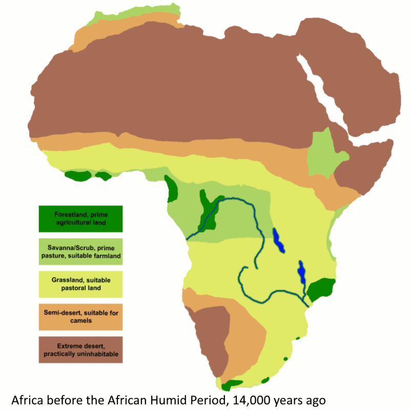 africa before 14000 years ago