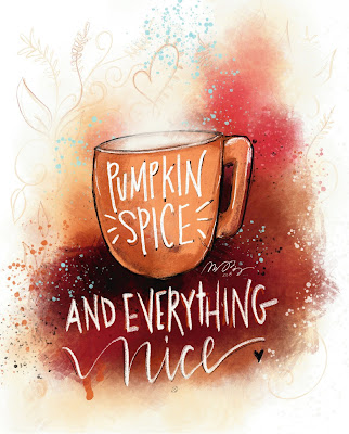 LostBumblebee ©2018 MDBN Pumpkin Spice and everything nice, free printable, fall print, personal use only, coffee, hot drink, cocoa, pumpkin spice