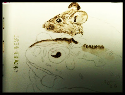 liquid pencil grissaille ncwren