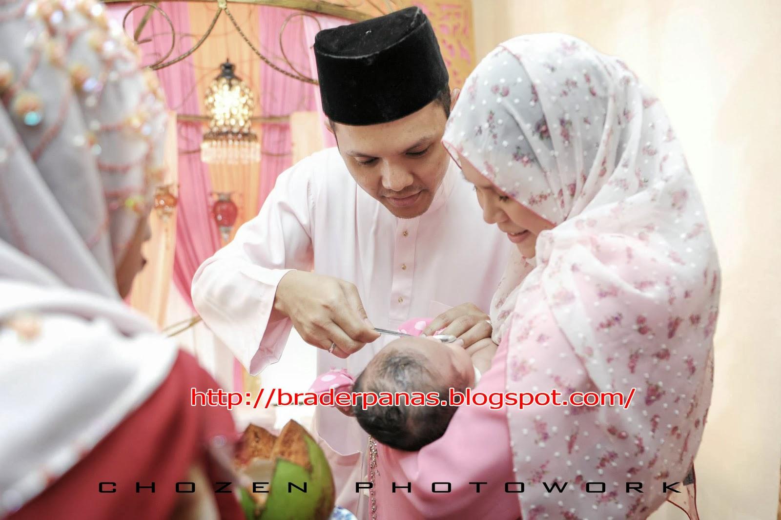 Gambar Majlis Aqiqah Anak Khai Dan Rosma AF  Brader Panas
