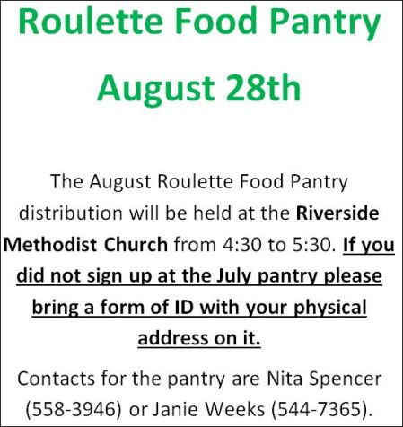 8-28 Roulette Food Pantry