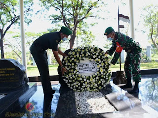 Ziarah HUT Ke-70 Kodam IV Diponegoro kasrem 073 Pimpin Rombongan