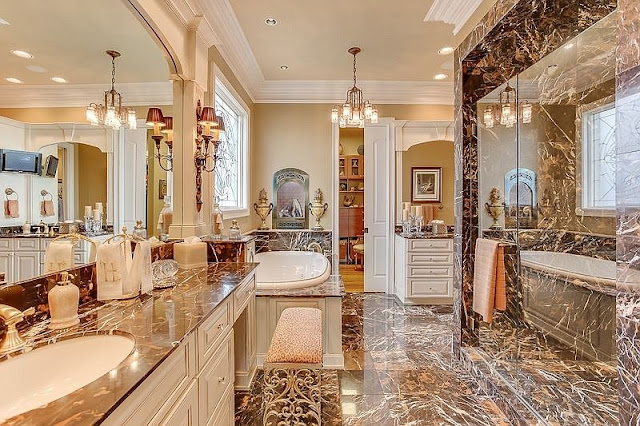 حماما رخامي فخم و كبير وعصري 2020