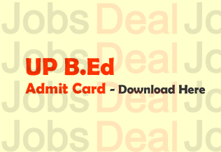 UP B.Ed Admit Card 2017