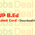 UP B.Ed Admit Card 2017 – JEE Entrance Exam Date/Hall Ticket