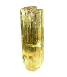 El heliodoro es la variedad amarillo dorado del berilo