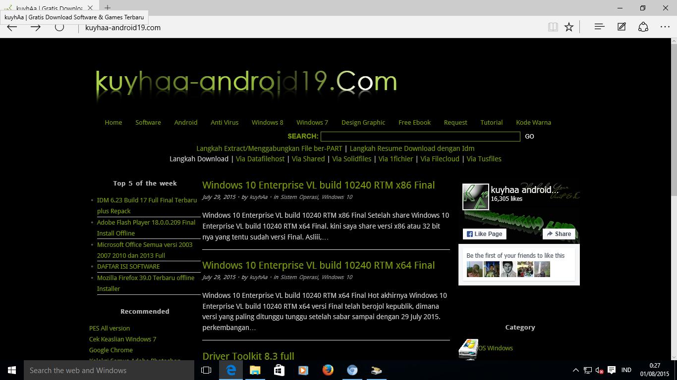 Windows 10.0.10586 Version 1511 RTM