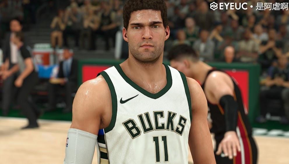 NBA 2K22 BROOK LOPEZ CYBERFACE AND BODY MODEL BY STEVEDAI