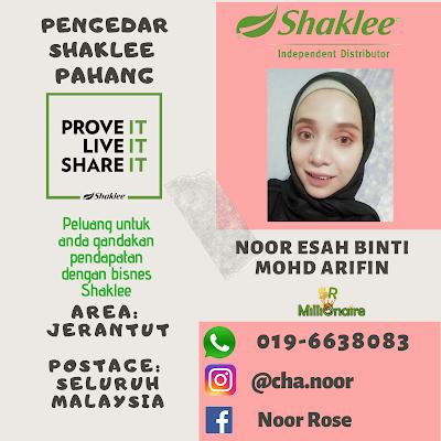 Pengedar Shaklee Jerantut 0196638083