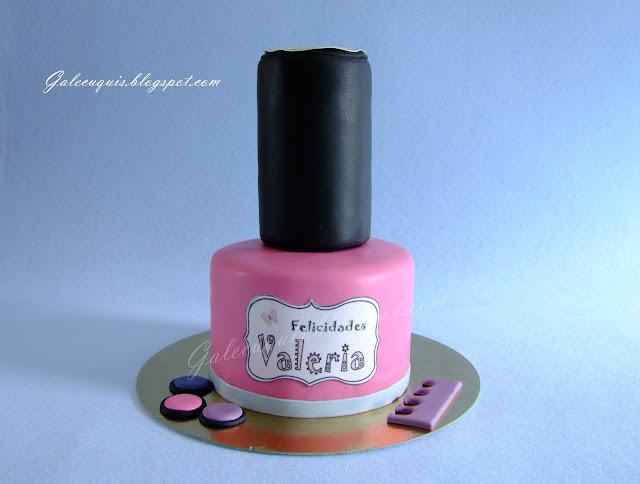tarta bote laca de uñas