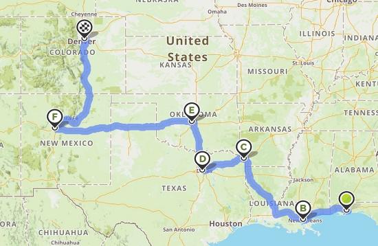 road trip map #1