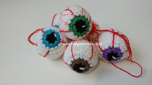 crochet eyeball