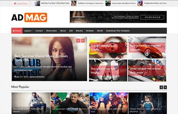 Download Ad Mag Blogger Template
