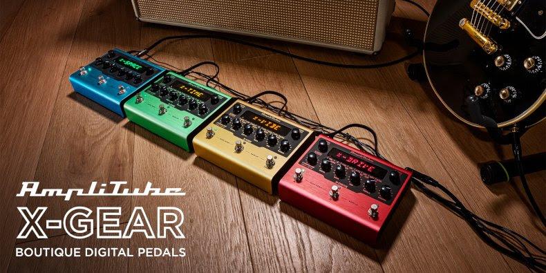 IK Multimedia announces AmpliTube X-GEAR digital effects pedals
