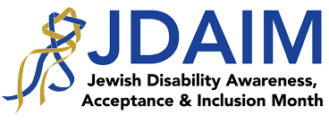 Jewish Disability Awareness, Acceptance and Inclusion Month logo; Removing the Stumbling Block