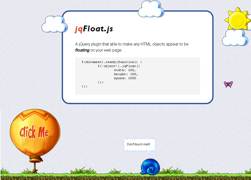How to provide floating effects using jQuery | jQuery By Example