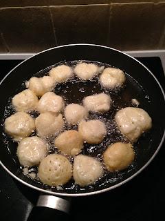 Buñuelitos de harina, preparación 1