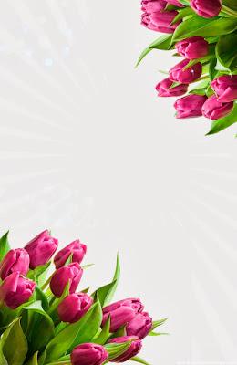 Invitación Elegante y Novedosa para Bodas Tulipanes Morados