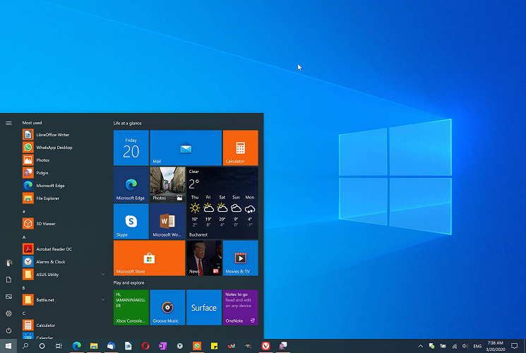 Free up space for Windows 10 May 2020 Update