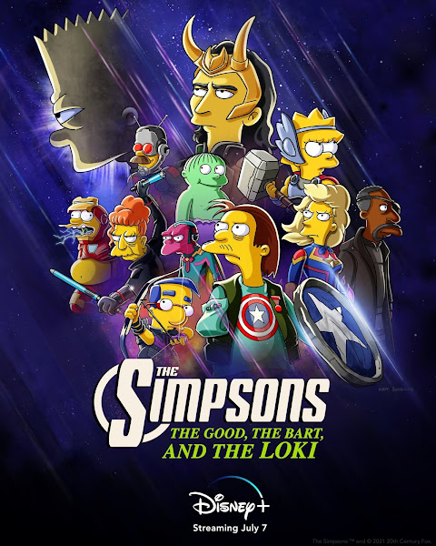 Loki e Bart Simpson vão unir forças numa curta na Disney+