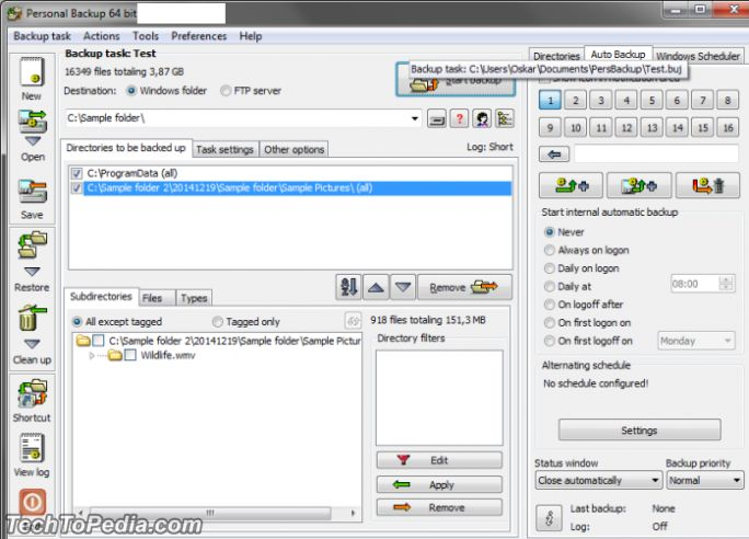 Backup Your Files with Personal Backup 6.1 Download Free for Windows